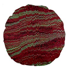 Scaly Pattern Colour Green Pink Large 18  Premium Round Cushions by Alisyart