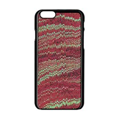 Scaly Pattern Colour Green Pink Apple Iphone 6/6s Black Enamel Case by Alisyart