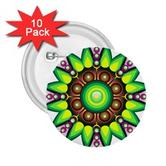 Design Elements Star Flower Floral Circle 2 25  Buttons (10 Pack)  by Alisyart