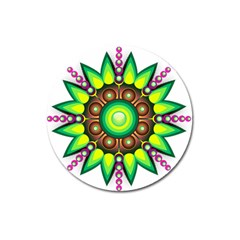 Design Elements Star Flower Floral Circle Magnet 3  (round) by Alisyart