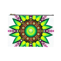 Design Elements Star Flower Floral Circle Cosmetic Bag (large)  by Alisyart