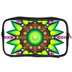 Design Elements Star Flower Floral Circle Toiletries Bags 2 Side by Alisyart