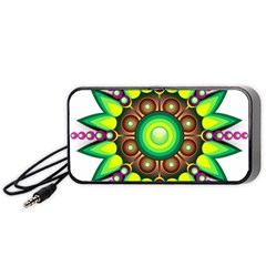 Design Elements Star Flower Floral Circle Portable Speaker (black) by Alisyart