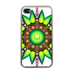 Design Elements Star Flower Floral Circle Apple Iphone 4 Case (clear) by Alisyart