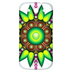 Design Elements Star Flower Floral Circle Samsung Galaxy S3 S Iii Classic Hardshell Back Case by Alisyart