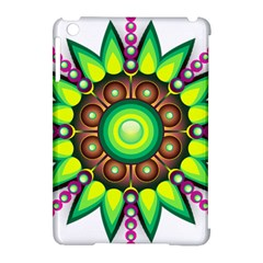 Design Elements Star Flower Floral Circle Apple Ipad Mini Hardshell Case (compatible With Smart Cover)