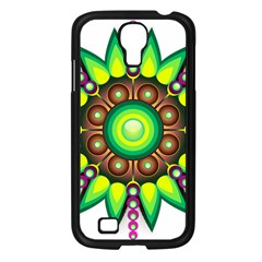 Design Elements Star Flower Floral Circle Samsung Galaxy S4 I9500/ I9505 Case (black) by Alisyart