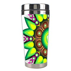 Design Elements Star Flower Floral Circle Stainless Steel Travel Tumblers by Alisyart