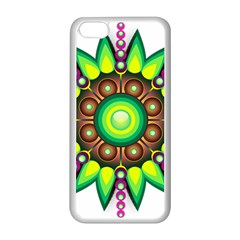 Design Elements Star Flower Floral Circle Apple Iphone 5c Seamless Case (white) by Alisyart