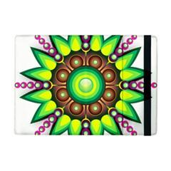 Design Elements Star Flower Floral Circle Ipad Mini 2 Flip Cases by Alisyart