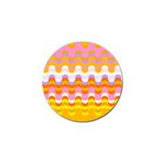 Dna Early Childhood Wave Chevron Rainbow Color Golf Ball Marker (10 Pack) by Alisyart