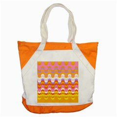 Dna Early Childhood Wave Chevron Rainbow Color Accent Tote Bag by Alisyart