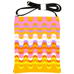 Dna Early Childhood Wave Chevron Rainbow Color Shoulder Sling Bags by Alisyart