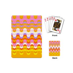 Dna Early Childhood Wave Chevron Rainbow Color Playing Cards (mini)  by Alisyart