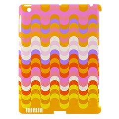 Dna Early Childhood Wave Chevron Rainbow Color Apple Ipad 3/4 Hardshell Case (compatible With Smart Cover) by Alisyart