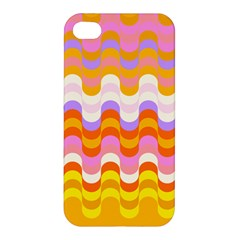 Dna Early Childhood Wave Chevron Rainbow Color Apple Iphone 4/4s Premium Hardshell Case by Alisyart