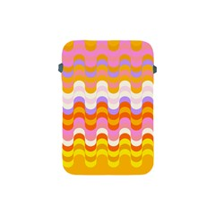 Dna Early Childhood Wave Chevron Rainbow Color Apple Ipad Mini Protective Soft Cases by Alisyart