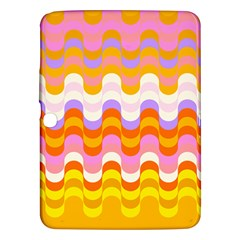 Dna Early Childhood Wave Chevron Rainbow Color Samsung Galaxy Tab 3 (10 1 ) P5200 Hardshell Case  by Alisyart