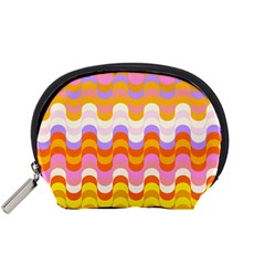 Dna Early Childhood Wave Chevron Rainbow Color Accessory Pouches (small)  by Alisyart