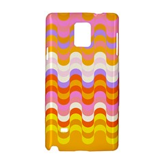 Dna Early Childhood Wave Chevron Rainbow Color Samsung Galaxy Note 4 Hardshell Case by Alisyart