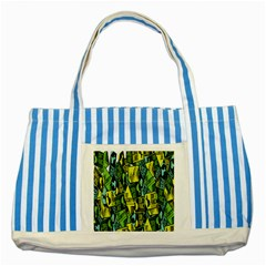 Don t Panic Digital Security Helpline Access Striped Blue Tote Bag by Alisyart