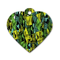 Don t Panic Digital Security Helpline Access Dog Tag Heart (one Side) by Alisyart