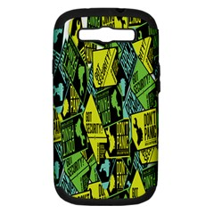 Don t Panic Digital Security Helpline Access Samsung Galaxy S Iii Hardshell Case (pc+silicone) by Alisyart