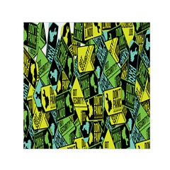 Don t Panic Digital Security Helpline Access Small Satin Scarf (square) by Alisyart
