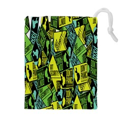Don t Panic Digital Security Helpline Access Drawstring Pouches (extra Large) by Alisyart