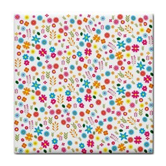 Floral Pattern Tile Coasters by Valentinaart