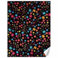 Floral Pattern Canvas 12  X 16   by Valentinaart