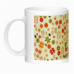 Floral Pattern Night Luminous Mugs by Valentinaart
