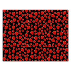 Strawberry  Pattern Rectangular Jigsaw Puzzl by Valentinaart