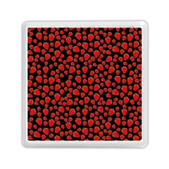 Strawberry  Pattern Memory Card Reader (square)  by Valentinaart