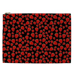 Strawberry  Pattern Cosmetic Bag (xxl)  by Valentinaart