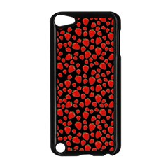 Strawberry  Pattern Apple Ipod Touch 5 Case (black) by Valentinaart