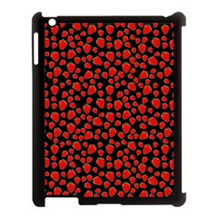 Strawberry  Pattern Apple Ipad 3/4 Case (black) by Valentinaart