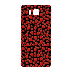 Strawberry  Pattern Samsung Galaxy Alpha Hardshell Back Case by Valentinaart