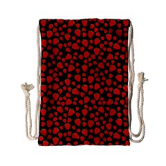 Strawberry  Pattern Drawstring Bag (small) by Valentinaart