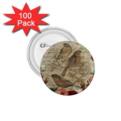 Vintage Birds 1 75  Buttons (100 Pack)  by Valentinaart
