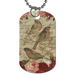 Vintage Birds Dog Tag (two Sides) by Valentinaart