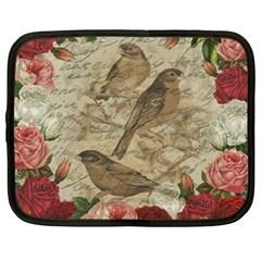 Vintage Birds Netbook Case (xxl)  by Valentinaart