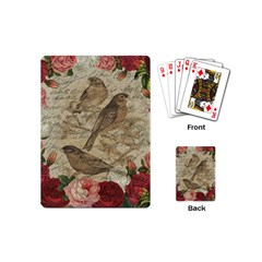 Vintage Birds Playing Cards (mini)  by Valentinaart