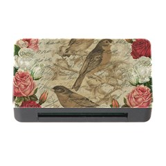 Vintage Birds Memory Card Reader With Cf by Valentinaart