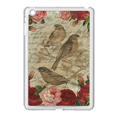 Vintage Birds Apple Ipad Mini Case (white) by Valentinaart