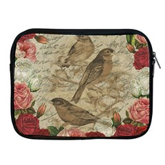 Vintage Birds Apple Ipad 2/3/4 Zipper Cases by Valentinaart