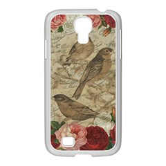 Vintage Birds Samsung Galaxy S4 I9500/ I9505 Case (white) by Valentinaart