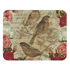 Vintage Birds Double Sided Flano Blanket (large)  by Valentinaart