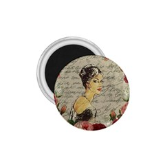 Vintage Girl 1 75  Magnets by Valentinaart