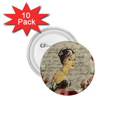 Vintage Girl 1 75  Buttons (10 Pack) by Valentinaart